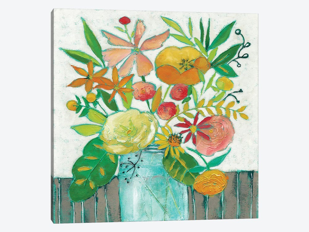 Homestead Floral I by Chariklia Zarris 1-piece Canvas Artwork