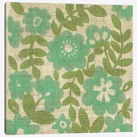 Verde Blossoms I Canvas Print #ZAR346} by Chariklia Zarris Canvas Artwork