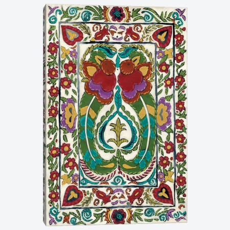 Batik Embroidery III Canvas Print #ZAR350} by Chariklia Zarris Canvas Artwork
