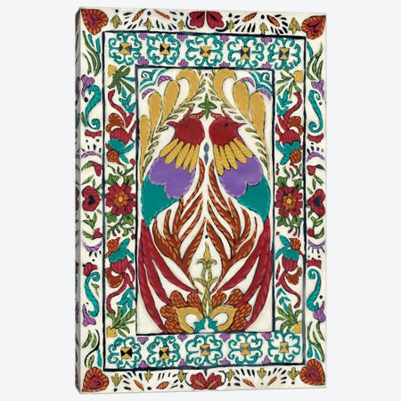 Batik Embroidery IV Canvas Print #ZAR351} by Chariklia Zarris Canvas Artwork