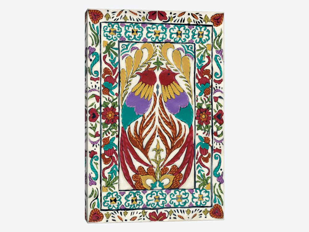 Batik Embroidery IV by Chariklia Zarris 1-piece Canvas Wall Art