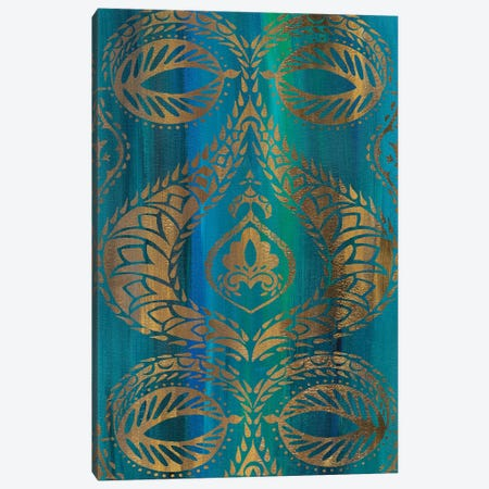 Blue Arabesque I Canvas Print #ZAR352} by Chariklia Zarris Canvas Artwork