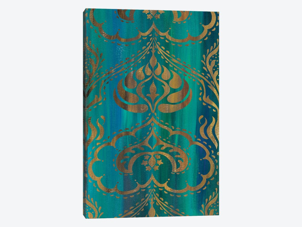 Blue Arabesque II 1-piece Canvas Art