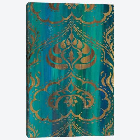 Blue Arabesque II 3-Piece Canvas #ZAR353} by Chariklia Zarris Canvas Wall Art