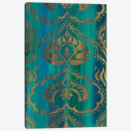 Blue Arabesque II Canvas Print #ZAR353} by Chariklia Zarris Canvas Wall Art