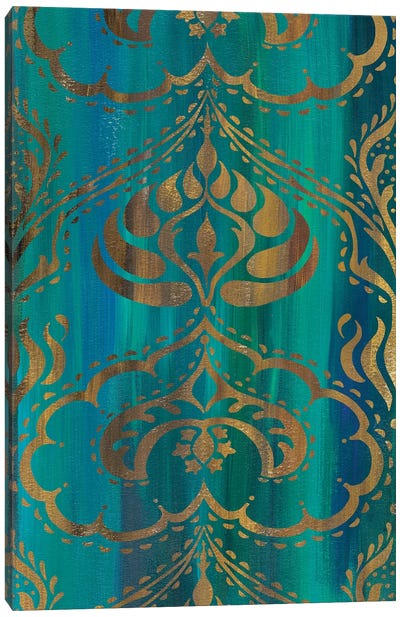 Blue Arabesque II Canvas Art Print