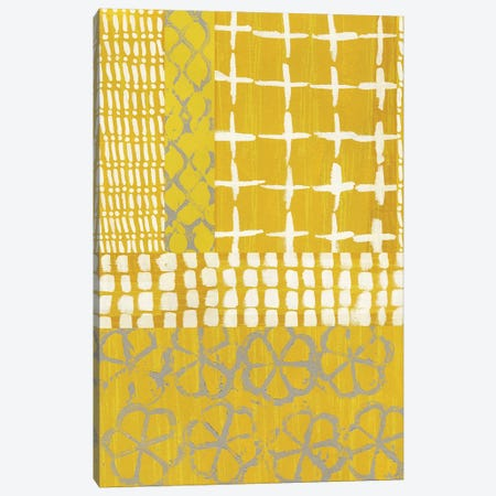 Golden Blockprint I 3-Piece Canvas #ZAR365} by Chariklia Zarris Canvas Wall Art