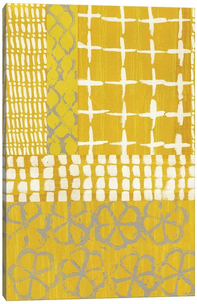 Golden Blockprint I Canvas Art Print