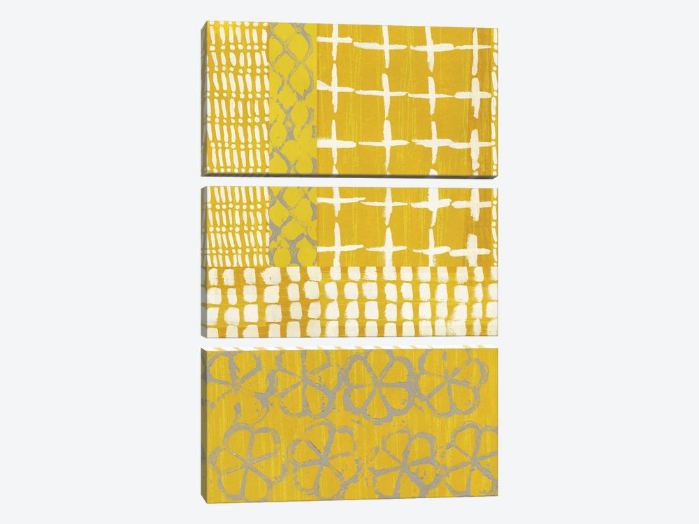 Golden Blockprint I by Chariklia Zarris 3-piece Art Print