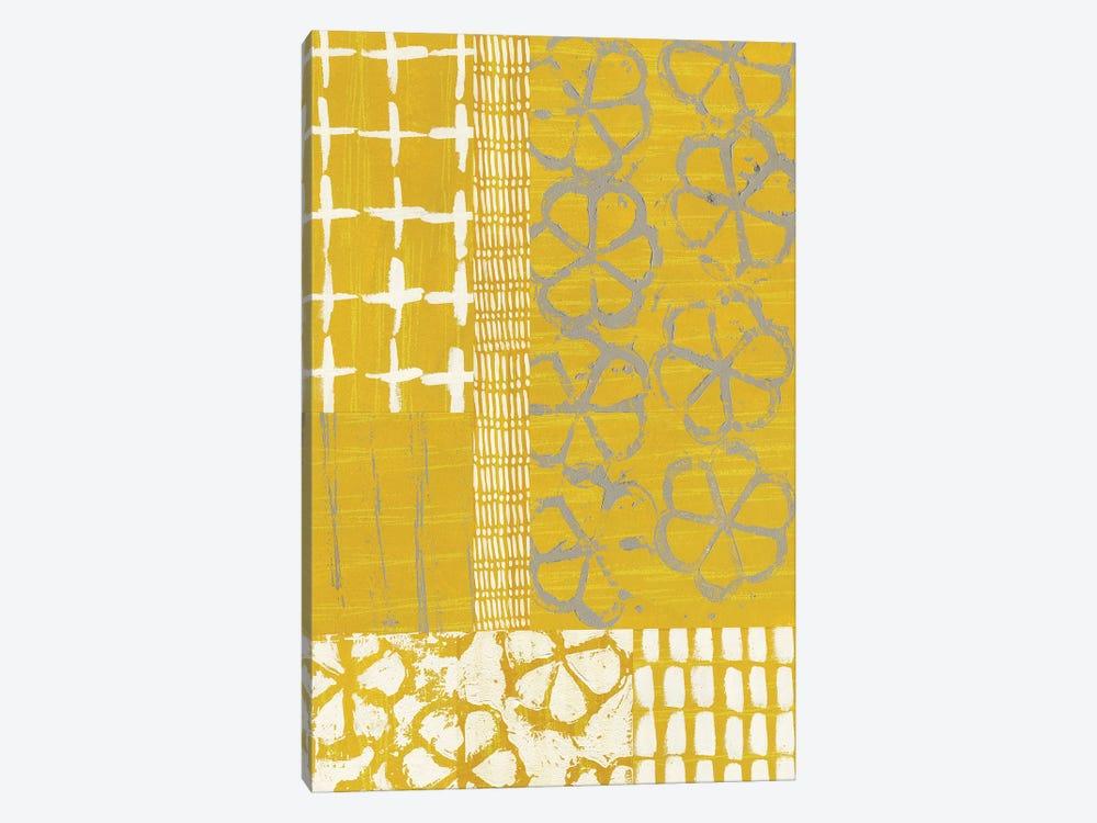 Golden Blockprint II by Chariklia Zarris 1-piece Canvas Wall Art