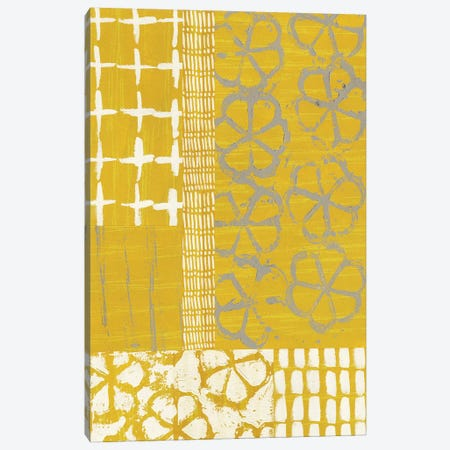 Golden Blockprint II Canvas Print #ZAR366} by Chariklia Zarris Canvas Wall Art