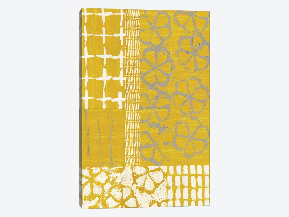 Golden Blockprint II by Chariklia Zarris 1-piece Canvas Wall Art