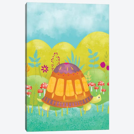 Happy Turtle I Canvas Print #ZAR367} by Chariklia Zarris Canvas Art