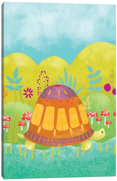 Happy Turtle I Canvas Art Print