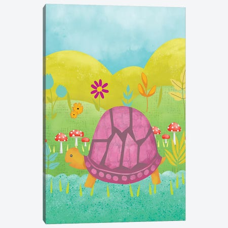 Happy Turtle II Canvas Print #ZAR368} by Chariklia Zarris Art Print