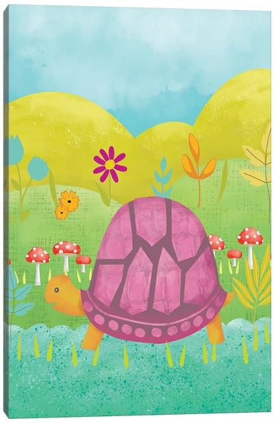 Happy Turtle II Canvas Art Print
