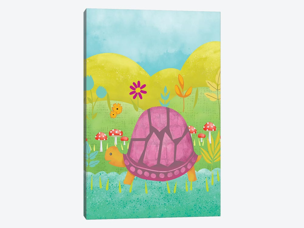 Happy Turtle II by Chariklia Zarris 1-piece Canvas Art