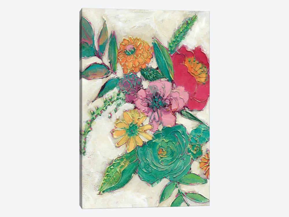 Olive's Flowers I by Chariklia Zarris 1-piece Canvas Artwork