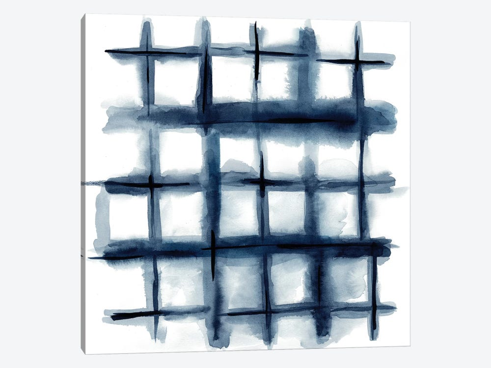 Indigo Study III by Chariklia Zarris 1-piece Canvas Art