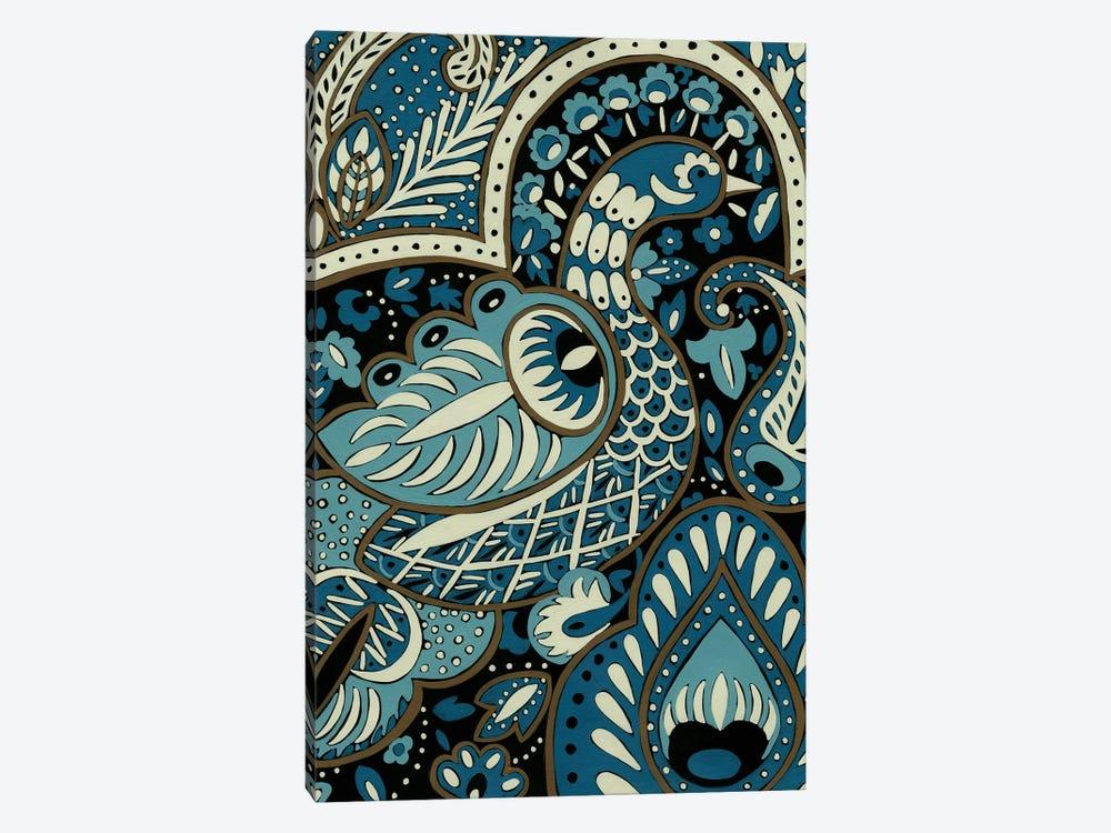 Indigo Peacock I by Chariklia Zarris 1-piece Canvas Wall Art