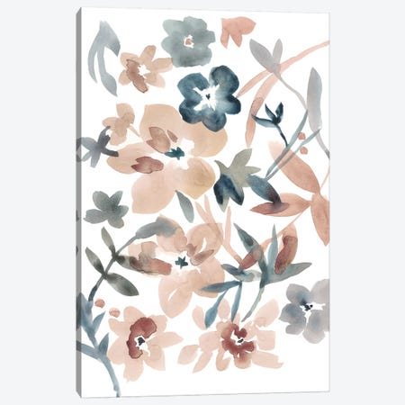 Martinique Floral I Canvas Print #ZAR408} by Chariklia Zarris Canvas Wall Art