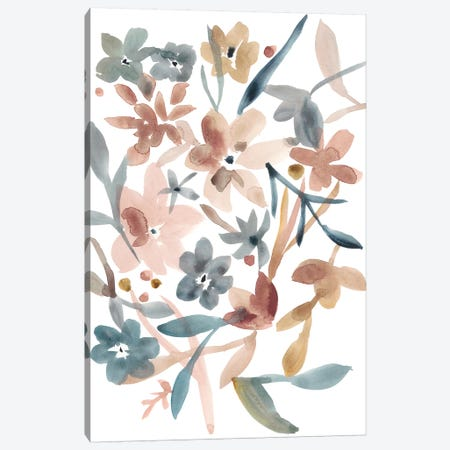 Martinique Floral II Canvas Print #ZAR409} by Chariklia Zarris Canvas Wall Art