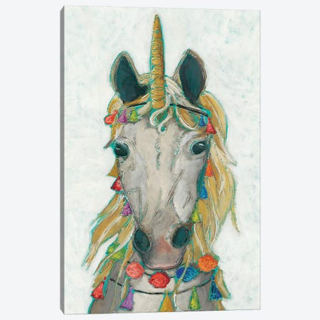 Fiesta Unicorn I Canvas Print #ZAR477} by Chariklia Zarris Canvas Artwork