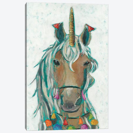 Fiesta Unicorn II Canvas Print #ZAR478} by Chariklia Zarris Canvas Print