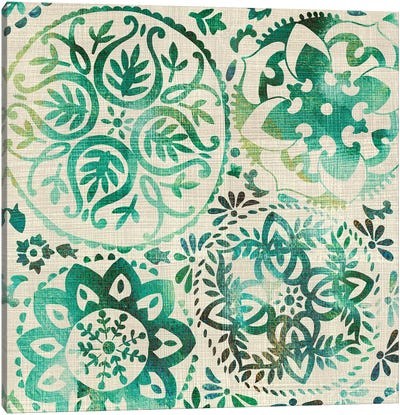 Moss Medallions I Canvas Art Print