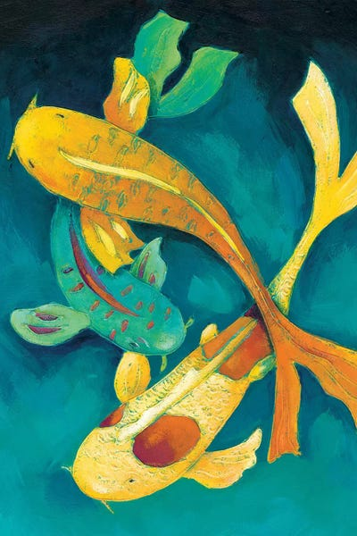 Ornamental koi i canvas art by chariklia zarris icanvas for Ornamental koi