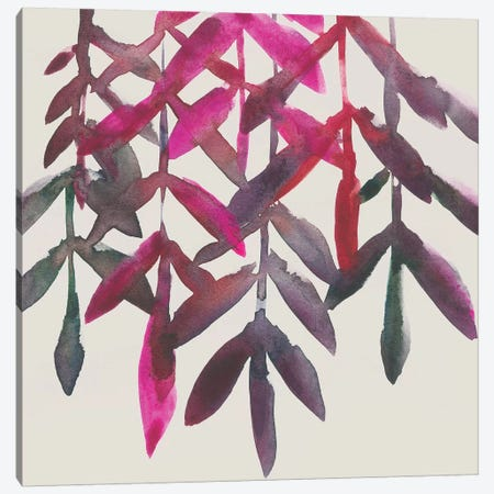 Fuchsia Vine II Canvas Print #ZAR497} by Chariklia Zarris Canvas Art