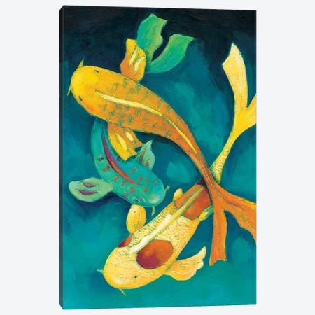 Ornamental Koi I Canvas Print #ZAR49} by Chariklia Zarris Art Print