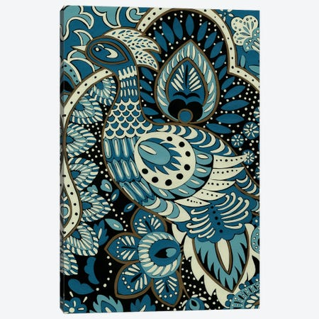 Indigo Peacock II Canvas Print #ZAR4} by Chariklia Zarris Canvas Print