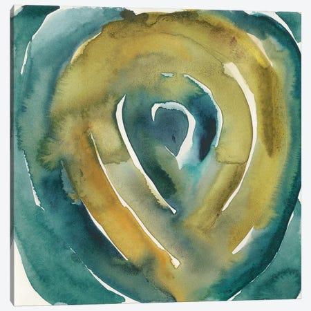 Peacock Reflection I Canvas Print #ZAR506} by Chariklia Zarris Canvas Art