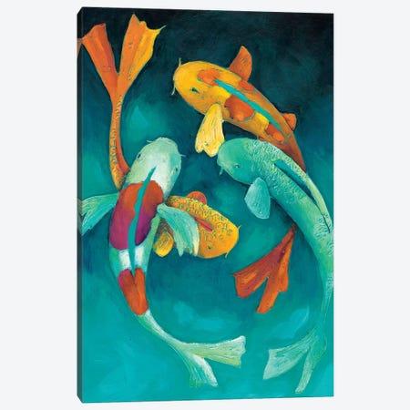 Ornamental Koi II Canvas Print #ZAR50} by Chariklia Zarris Canvas Artwork