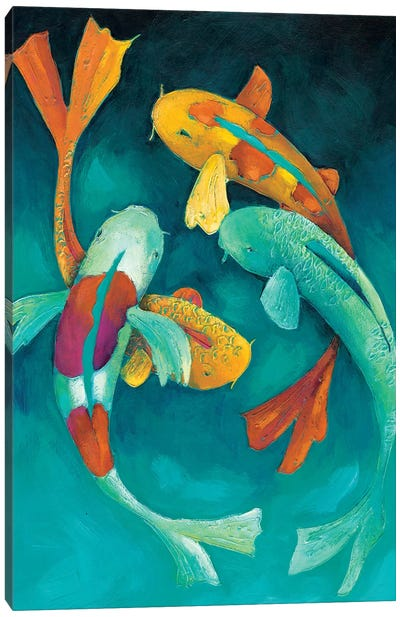 Ornamental Koi II Canvas Art Print