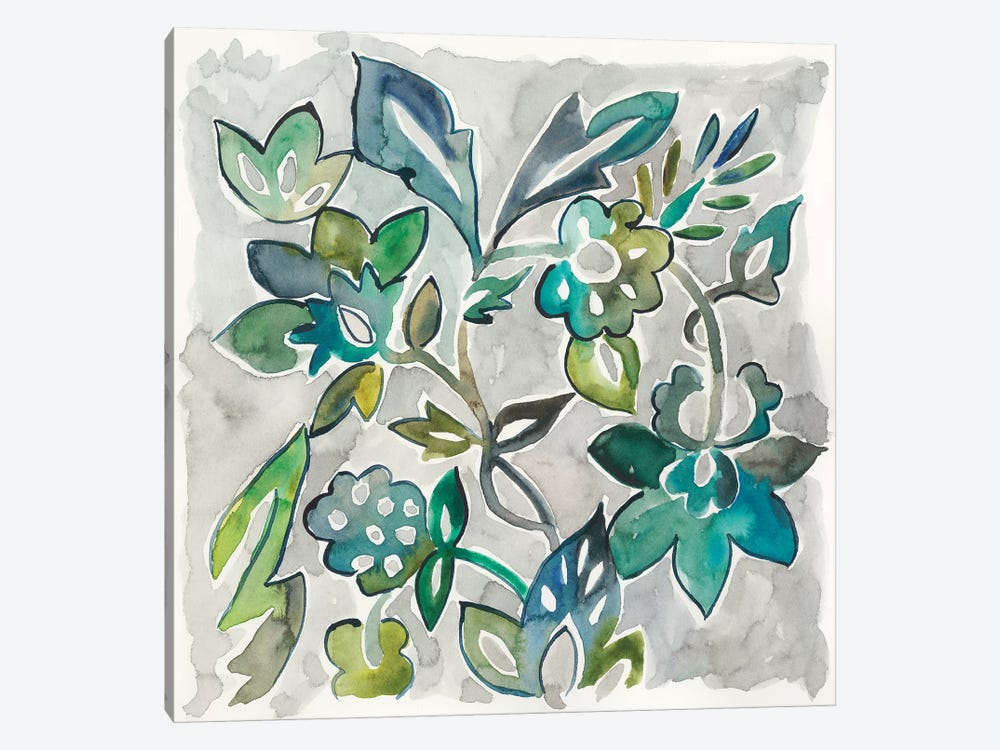 Sapphire Vine I by Chariklia Zarris 1-piece Canvas Art Print