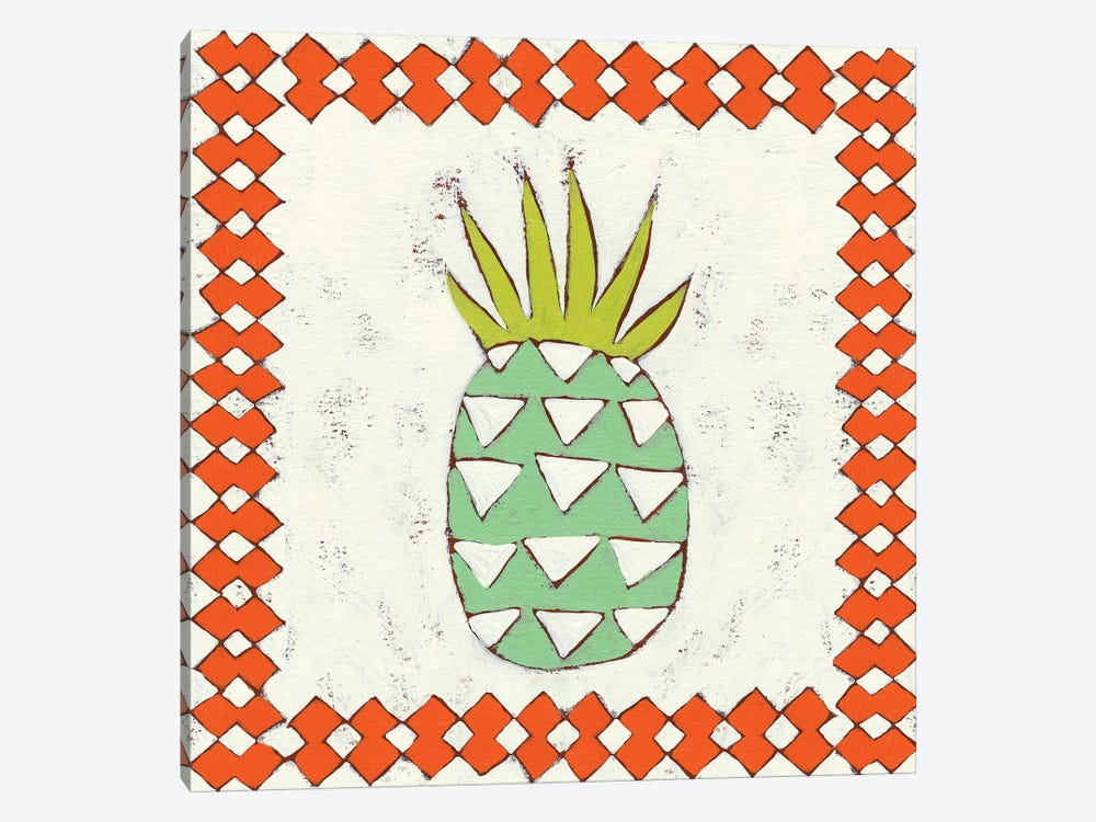 Pineapple Vacation I by Chariklia Zarris 1-piece Canvas Art