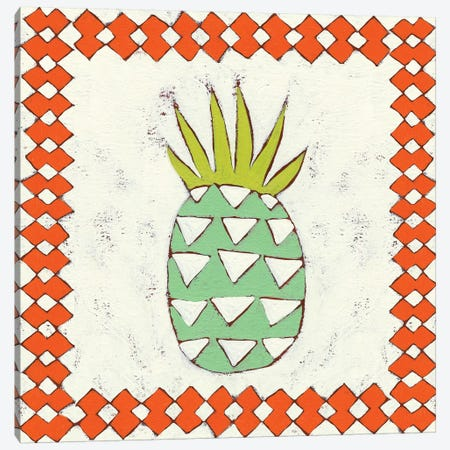 Pineapple Vacation I Canvas Print #ZAR51} by Chariklia Zarris Canvas Wall Art