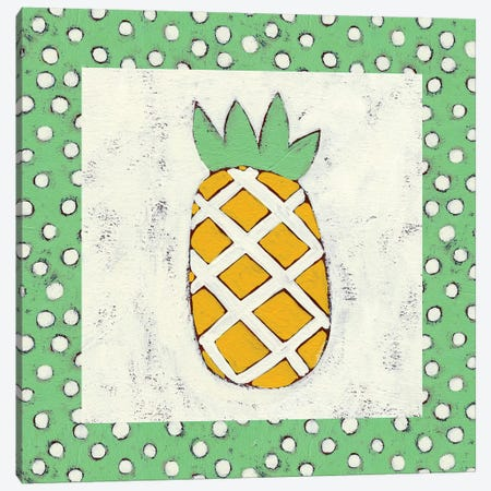 Pineapple Vacation II Canvas Print #ZAR52} by Chariklia Zarris Canvas Art