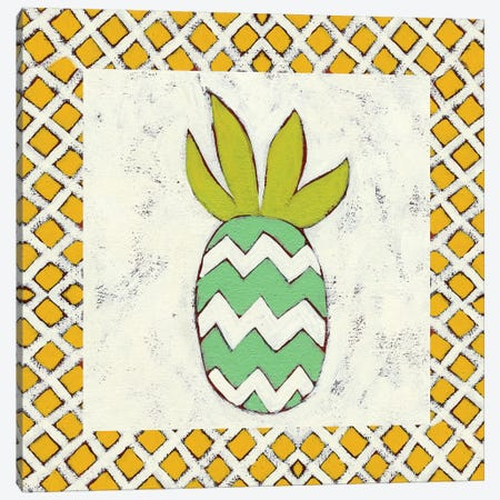 Pineapple Vacation III Canvas Print #ZAR53} by Chariklia Zarris Canvas Art