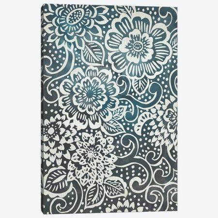 Floral Batik I Canvas Print #ZAR541} by Chariklia Zarris Art Print