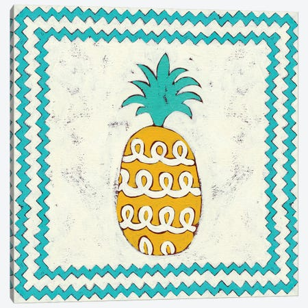 Pineapple Vacation IV Canvas Print #ZAR54} by Chariklia Zarris Art Print