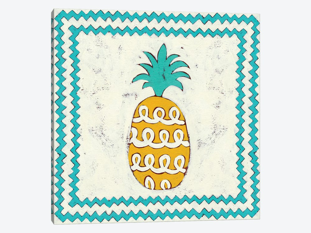 Pineapple Vacation IV by Chariklia Zarris 1-piece Art Print