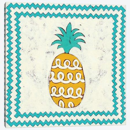 Pineapple Vacation IV 3-Piece Canvas #ZAR54} by Chariklia Zarris Art Print
