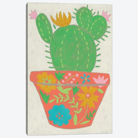 Happy Cactus I Canvas Print #ZAR559} by Chariklia Zarris Canvas Wall Art