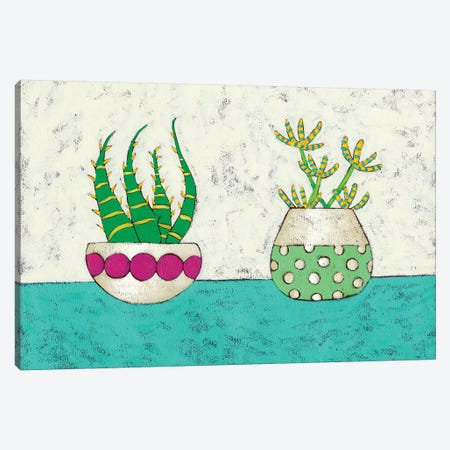 Succulent Duo I Canvas Print #ZAR55} by Chariklia Zarris Canvas Print