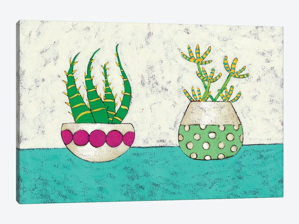 Succulent Duo I by Chariklia Zarris 1-piece Canvas Artwork