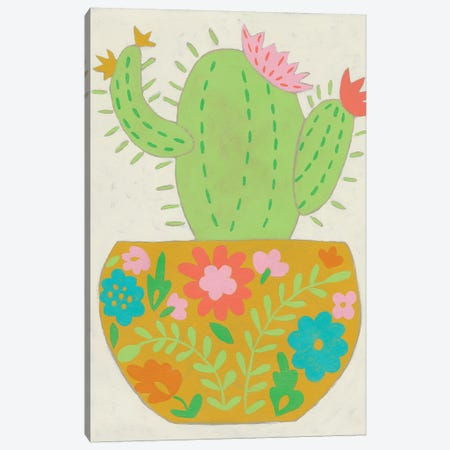 Happy Cactus II Canvas Print #ZAR560} by Chariklia Zarris Art Print