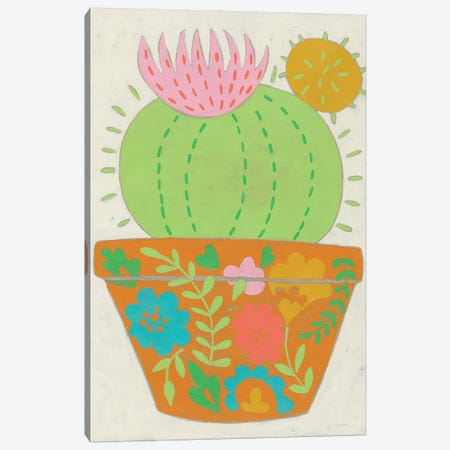 Happy Cactus III Canvas Print #ZAR561} by Chariklia Zarris Canvas Print